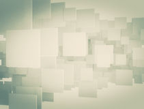 Abstract digital 3d squares. High resolution 3d background Royalty Free Stock Photo