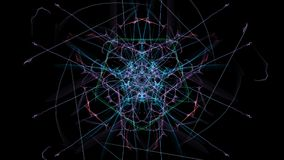 Abstract digital dark background. Silk symmetry series royalty free illustration
