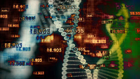 Abstract Digital DNA. Stock Photo