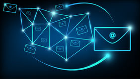 Abstract digital email marketing communications world Stock Image