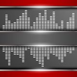 Abstract digital equalizer background. Vector illustration Royalty Free Stock Image