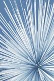 Abstract digital explosion pattern. Blue toned. Vertical 3d render illustration vector illustration