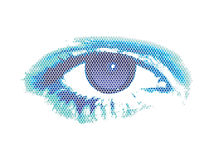 Abstract digital eye. Vector illustration Stock Photo
