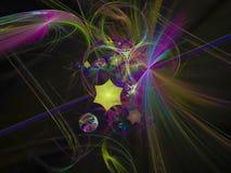 Abstract digital fractal color beauty beam motion edge strip communication texture lucent background, banner design surreal. Abstract digital fractal color vector illustration