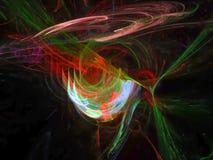 Abstract digital fractal color magic optical beam strip communication texture lucent background, banner design surreal. Abstract digital fractal color banner vector illustration