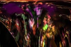 Abstract digital fantastic bright motion vibrant artistic effect flame curve dynamic fractal fantasy design background curve. Abstract digital fractal fantasy vector illustration