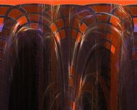Abstract fractal style vibrant modern pattern chaos illustration fantasy design background dynamic. Abstract digital, fractal fantasy design background stock illustration