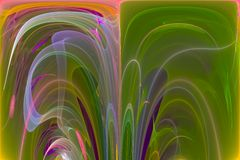 Abstract science fantastic color splash explosion fractal fantasy design backdrop. Abstract digital fractal fantasy design color stock illustration