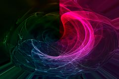 Abstract fractal futuristic vibrant shine fantastic flame wave design glowing swirl effect chaos. Abstract digital fractal fantasy design glowing effect   wave stock illustration