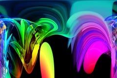 Abstract fractal futuristic vibrant beautiful shine fantastic flame wave design glowing swirl effect chaos. Abstract digital fractal fantasy design glowing stock illustration