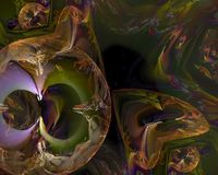 Abstract digital fractal, texture science element effect creativity dynamic render design imagination royalty free stock photos