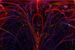 Abstract digital fractal fantasy  glowing shiny  design curve. Abstract digital fractal fantasy design shiny curve glowing stock illustration