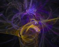 Abstract fractal motion effect design explosion ethereal , backdrop science backdrop. Abstract digital fractal modern surreal backdrop glow magic design ethereal stock illustration