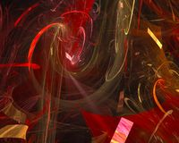 Abstract fractal motion effect ethereal banner , backdrop science backdrop. Abstract digital fractal modern surreal backdrop glow magic ethereal effect royalty free illustration