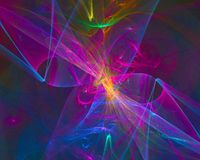 Abstract digital fractal science vibrant concept energy fantasy design backdrop. Abstract fractal fantasy design science wallpaper concept template curl magic stock illustration