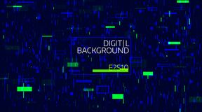 Abstract digital geometric background. Bright color data chaos. Glitch and noise defect and distortion. Banner Royalty Free Stock Photography