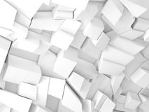 Abstract digital graphic background 3 d. Abstract digital graphic background, white chaotic fragments pattern, 3d illustration Stock Photos