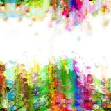 Digital Paint Grunge Banner Space. An abstract digital grunge paint border background Stock Photo