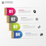 Abstract digital illustration. Infographic design template. Vector Stock Image
