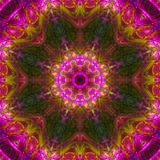 Abstract digital kaleidoscope texture creative mandala, color ornament, decor background. Abstract digital kaleidoscope background mandala, ornament, color royalty free stock image