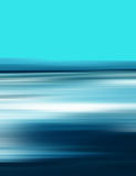 Abstract Digital Landscape Illustration with Sky and Ocean in Blue Colors Stock Image