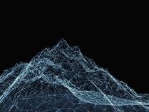 Abstract digital landscape with particles Royalty Free Stock Photography