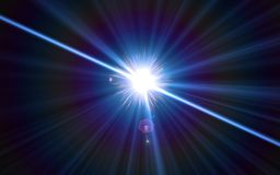 Abstract digital lens flare light.Beautiful sunlight effect. Natural lens flare in space Stock Photo