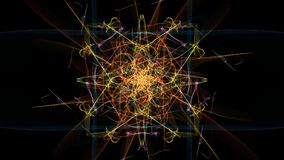 Abstract symmetrical light. Abstract digital light. Fantasy style. Silk symmetry series vector illustration
