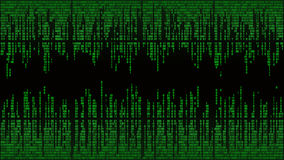 Abstract with digital lines, binary code, matrix background with digits, frame Royalty Free Stock Images