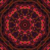Abstract kaleidoscope imagination , creative science mandala, ornament futuristic template background. Abstract digital mandala, ornament, template style royalty free stock photography