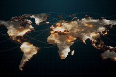 Global business and network concept Stock Photos