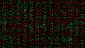 Abstract digital noise pattern with red and green sectors stock video footage