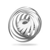 Abstract digital object, round 3d spiral structures. On white background Royalty Free Illustration