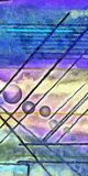 Abstract digital painting. Of Lines and Spheres Royalty Free Stock Photography
