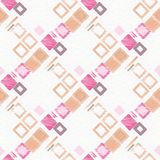 Abstract digital painting in orange and pink. Stock Photography