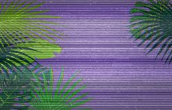 Colorful pattern illustration of palm leaves stock illustration