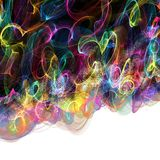 Abstract Digital Rainbow Background Royalty Free Stock Photo
