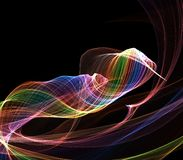 Abstract Digital Rainbow Background Stock Image