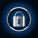 Abstract digital security lock background Royalty Free Stock Photography