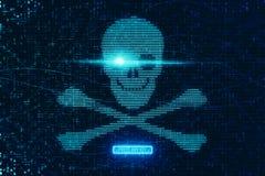 Abstract digital skull backdrop vector illustration