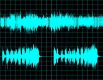 Abstract digital sound wave background Stock Photos