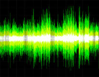Abstract digital sound wave background Stock Images