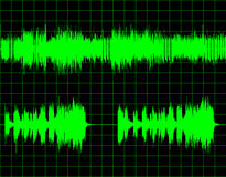 Abstract digital sound wave background Royalty Free Stock Photo