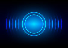 Abstract digital sound wave blue light background. Abstract  digital sound wave blue light background Royalty Free Stock Images