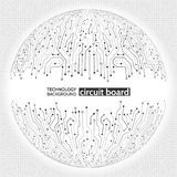 Abstract digital sphere circuit board on the grey background. Royalty Free Stock Photo