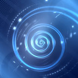 Abstract digital spiral background Royalty Free Stock Photography