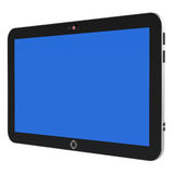 Abstract digital tablet PC. With blue screen isolated on white background. 3d render Stock Image