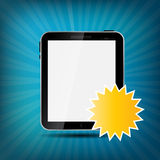 Abstract digital tablet vector illustration Royalty Free Stock Images