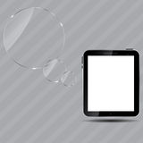 Abstract digital tablet vector illustration Royalty Free Stock Photos