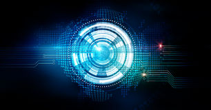 Abstract digital technology background, illustration Stock Photography